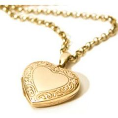 Shop or Gift Hi Lifestyles...22crt Gold Plating Heart Photo Pendant With  Chain Online.