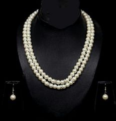 Hi Lifestyles Valentine Special Designer Wear Pearl Set - Valentine Gifts For Her