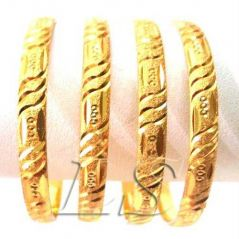 Shop or Gift 22 CRT GOLD PLATING HEAVY PARTY WEAR KADA SET OF 4 Online.