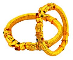 Mother's Day Gifts   Bangles & Bracelets - Gold Plated Ethnic Kada Pair for Your Mother