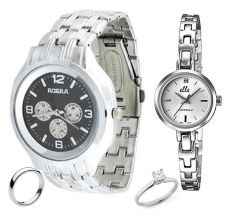 Shop or Gift Buy Couple Watches & Get Couple Rings FREE....LS65 Online.