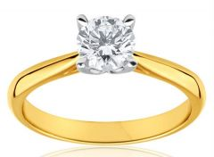 18 Crt Gold Forming Pure CZ Diamond Ring