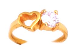 Hi Lifestyles Valentine Special Pure Cz Diamond Ring With A Heart - Valentine Gifts