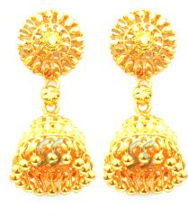 Mother's Day Gifts   Earrings - The Ever Ethnic Gold Forming Jhumkas....FOR Your Mother