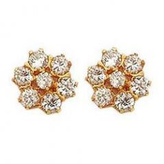 Mother's Day Gifts   Earrings - Pure Cz Diamond Solid Tops for Your Mother