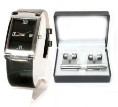 Executive Watch with Cuff links and Tie Pin