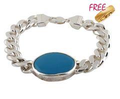 Shop or Gift Buy 1 Gold plated ring & Get Salman Khan Style Mens Bracelet FREE Online.