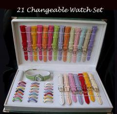 Shop or Gift 21 In 1 Designer Ladies Watch Online.