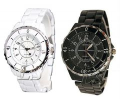 Shop or Gift Very Stylish Couple Watch Set Buy 1 Get 1 Free Online.