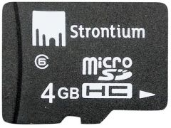 Strontium Mobile Phones, Tablets - Strontium Micro sd Memory Card 4GB