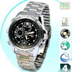 Electronics - Gents Spy Camera Chrono Wrist Watch Video & Audio HD Recorder 4GB Recording