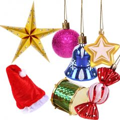 Christmas Tree Decorations Reusable Gift Package