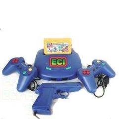 Eci - TV Video Game Console 99999 Games Cassette, Gun & 2 Joysticks
