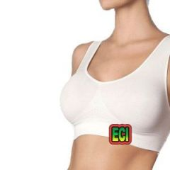 Eci - Premium Free Size White Stretchable Aire Bra Air Slim N Lift Seamless