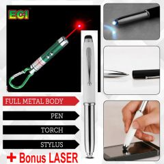 4 In 1 Pen - With Laser Pointer, Pen, Stylus And Torch