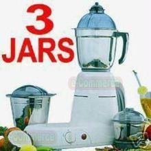Diwali - 3 Jars Heavy Duty Mixer Grinder Mixee with Free Lakshmi & Ganeshji Silver Coin & Gift Paper wrapping