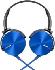 Portable Audio Players, Headphones - Sony Mdr-xb450ap Extra Bass Blue Headphone With Mic