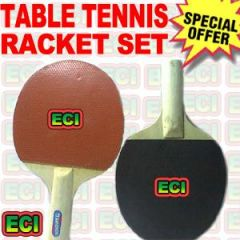 Pair of Table Tennis Racket Bat Blade