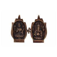 Brass Sculpture Lakshmi Ganesh Religious Home Decor