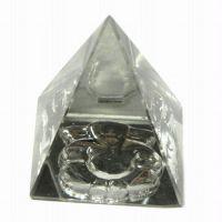 New Glass Pyramid With Ganesha Engraved On Bottom