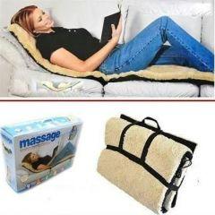 Soft Velvet Massage Bed, Remote Controlled Full Body Massaging Mat Massager