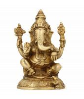 Ganesh Indian Religious Home Decoration Puja Items 6.5 Inches