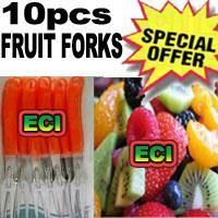 10pcs Stainless Steel Fruit Fork Set