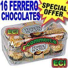 Ferrero Rocher Chocolates 16 PCs Box