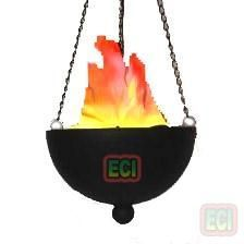 Real Fire Effect Hanging Electric Light Night Lamp