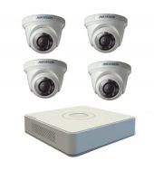 Daiki Electronics - Hikvision 4 Channel HD Dvr Ds-7104hwi-sh With 4 IR Dome Camera Ds-2ce5582p
