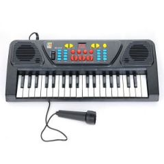 Eci Kids Karoke Mic Keyboard 37keys Piano Karaoke Synthesizer Microphone