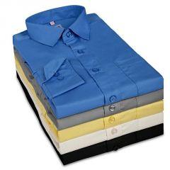 Gift Or Buy Men''s Formal Plain Shirts - Pack Of 5