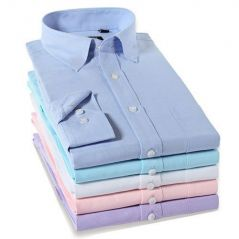 Gift Or Buy Assorted Formal Plain Pc Cotton Shirts - Pack Of 5