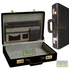 Shop or Gift Black Leather Executive Briefcase Vintage Gents CEO Office Bag Attachi case Online.