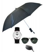 Mens Umbrella With Wrist Watch And Sunglass