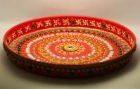 Designer Handmade Pooja Puja Steel Thali With Crystal & Mirror