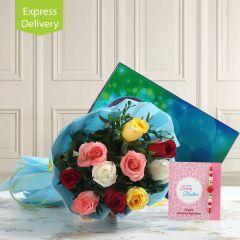 Rakhi Surprises With Roses