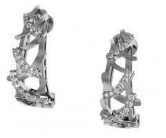 Avsar Women's Clothing - Avsar Real Gold and  Swarovski Stone Pranali Earring AVE0169WB