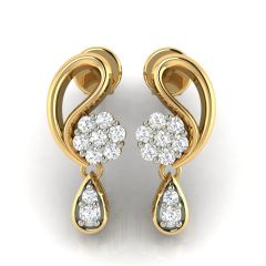 Avsar Real Gold and Cubic Zirconia Stone Earring( Code - AVE231YB )