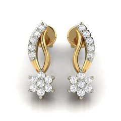 Avsar Real Gold and Diamond Earring( Code - AVE234A )