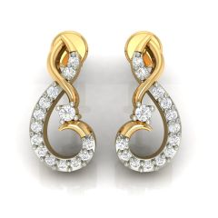 Avsar Real Gold and Cubic Zirconia Stone Earring( Code - AVE241YB )
