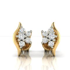 Avsar Real Gold and Cubic Zirconia Stone Earring( Code - AVE247YB )