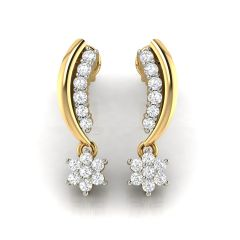 Avsar Real Gold and Cubic Zirconia Stone Earring( Code - AVE248YB )