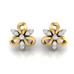 Avsar Real Gold and Diamond Earring( Code - AVE252A )