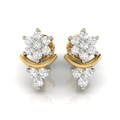 Avsar Real Gold and Cubic Zirconia Stone Earring( Code - AVE257YB )