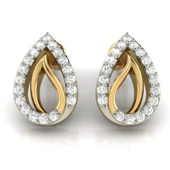Avsar Real Gold and Diamond Earring( Code - AVE259A )
