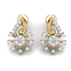 Avsar Real Gold and Diamond Earring( Code - AVE266A )