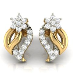 Avsar Real Gold and Cubic Zirconia Stone Earring( Code - AVE267YB )