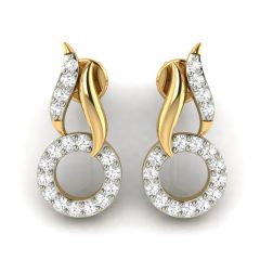 Avsar Real Gold and Diamond Earring( Code - AVE272A )