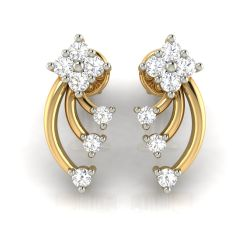 Avsar Real Gold and Cubic Zirconia Stone Earring( Code - AVE279YB )